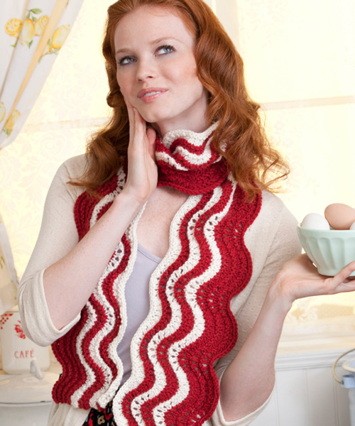 Knitting Pattern Bacon Scarf : How-To: Bacon Scarf Make: