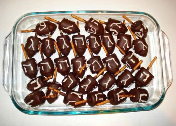 Chocolate Hanukkah Dreidels | Make: