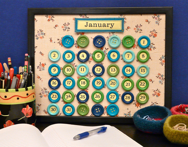 How-To: Make a Perpetual Button Calendar for 2011 (and Beyond) | Make: