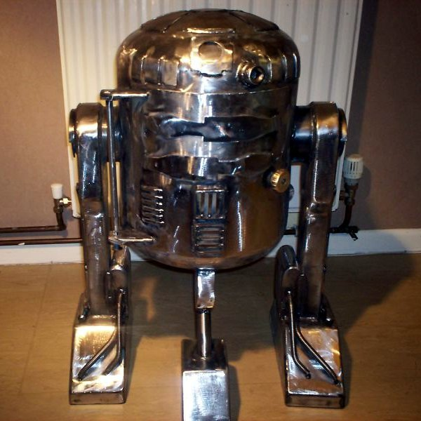 R2-D2 wood stove from recycled gas bottle - Make: | Make:
