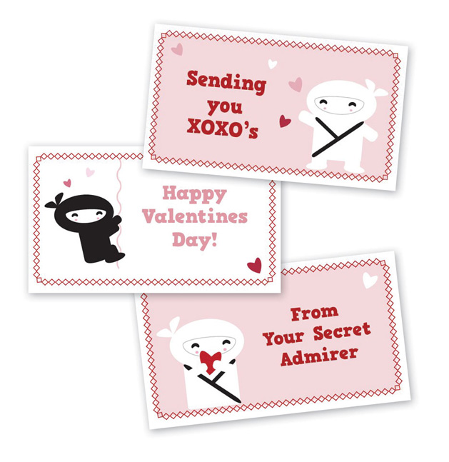 CRAFT Printables Kawaii Mini Valentine Cards – Mini Valentine Cards