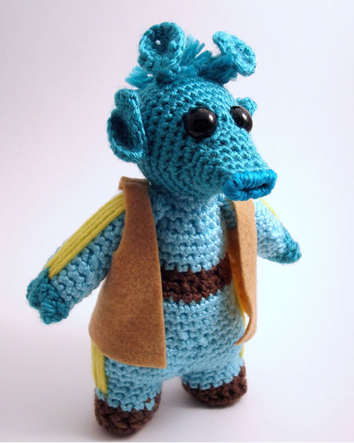 Free Crochet Star Wars Doll Patterns : Greedo Amigurumi Make: