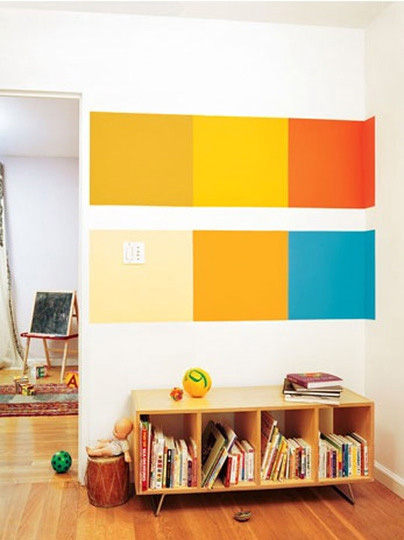 Color Block Mountain Painting Make Diy Projects How