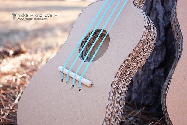 how to cardboard guitars for kids make. Black Bedroom Furniture Sets. Home Design Ideas