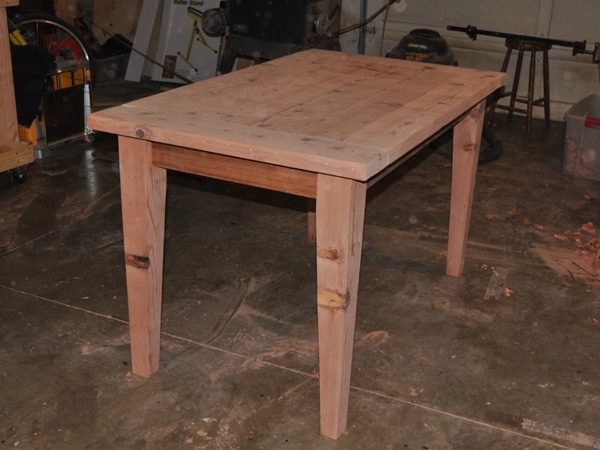 How to make a wooden table top jump