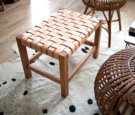 How To Woven Leather Stool Make