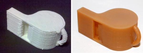 3D Whistle Comparison, FDM vs. Resin