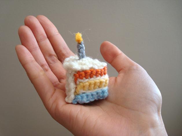 Crochet Cake Slice