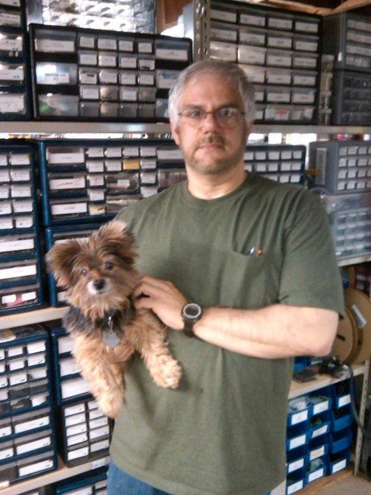 John Iovine with dog Chancey