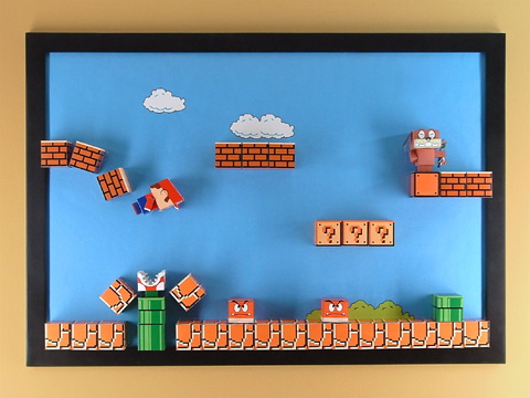 How To Super Mario Papercraft Magnetic Board Make