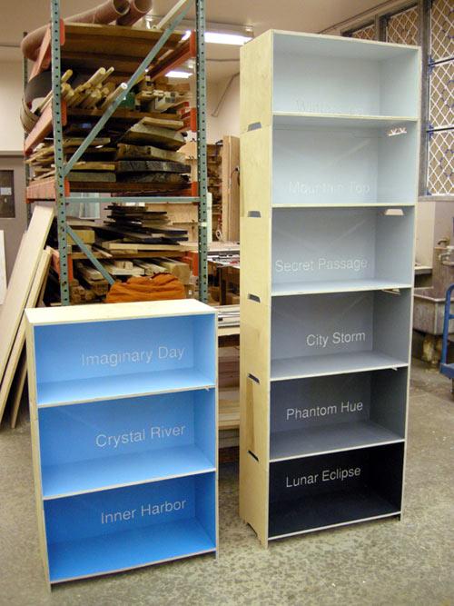 Paint Chip Shelves