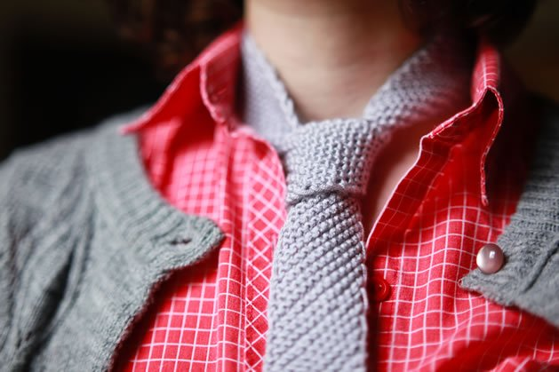 Knit Necktie Pattern : Knit Ties Patterns From Lion Brand Yarn Make: