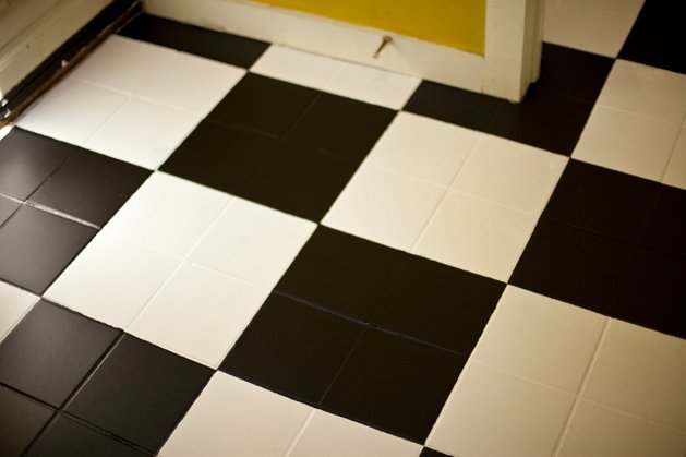 How To Painted Checkerboard Tile Floor Make