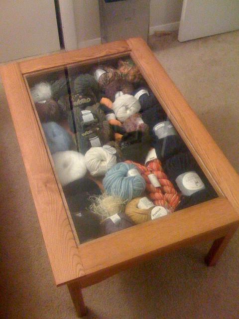 Coffee Table Yarn Storage Make