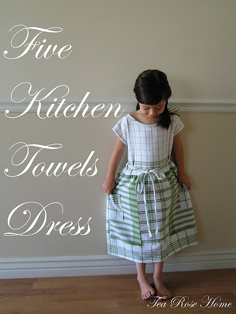 Dress Tea Towel How-to Five Tea Towel Dress