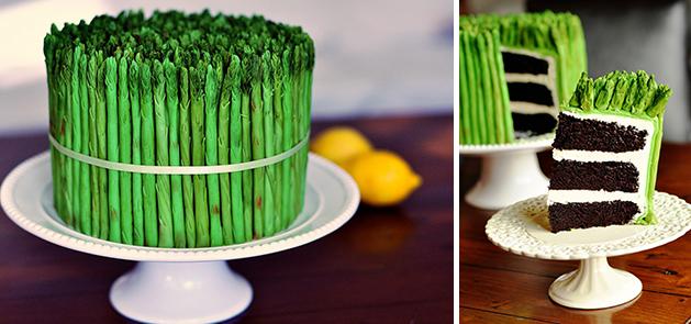 Virtual Cake Design Program : Asparagus Cake Make: