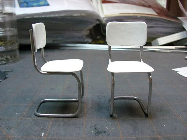 How to dollhouse kitchen chairs make for Mini designer chairs