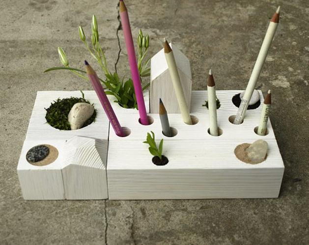 Zen Classroom Decor ~ Zen garden desk organizer make