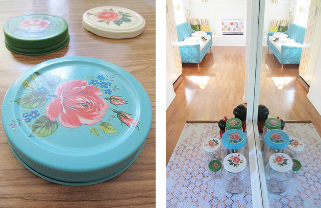 How To Decorate Glass Jar Lids Make