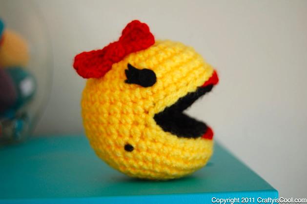 Crochet Amigurumi Pattern Generator : How-To: Ms. Pac Man Amigurumi Make: