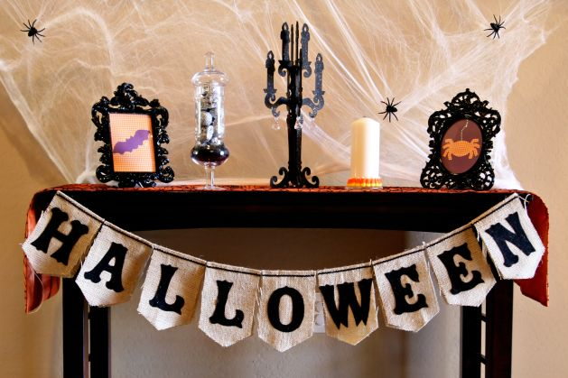 Halloween Bunting halloween party halloween bunting banner customized printable a Project Halloween Burlap Bunting Make