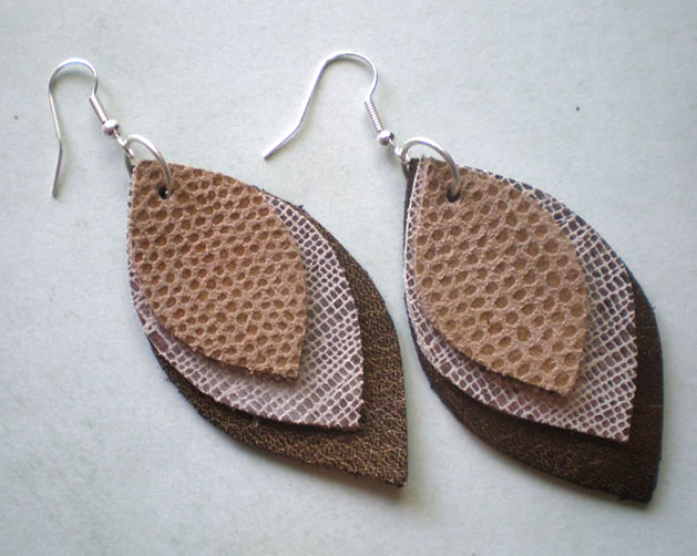 How To Leather Earrings Make