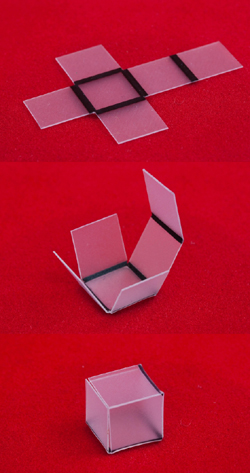 Self Assembly of a Cube in Process