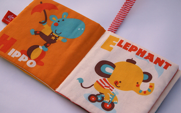 Cloth Baby Books at Spoonflower | Make: