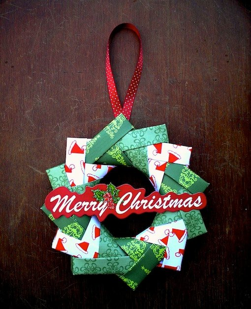 3d Origami Christmas Tree Today I Want To Share 3d: How-To: Origami Wreath