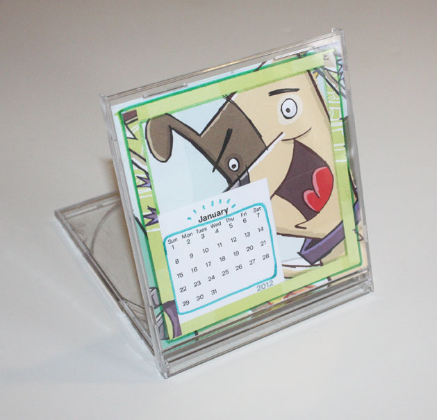 Calendar Craft Projects : Project cd jewel case calendar make