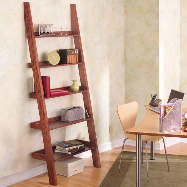 How to make a leaning tower of shelves make for Librero escalera