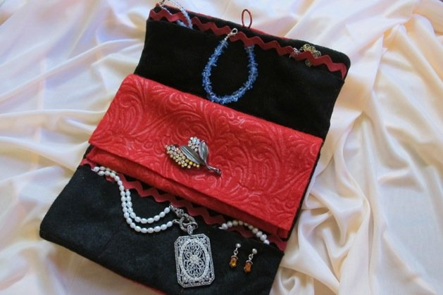 project travel jewelry clutch make