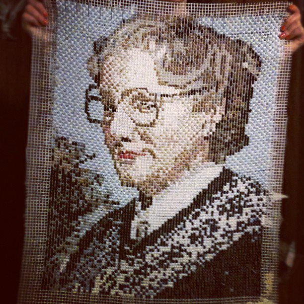 Distance From Fireplace To Rug: Latch Hooked Mrs. Doubtfire Rug