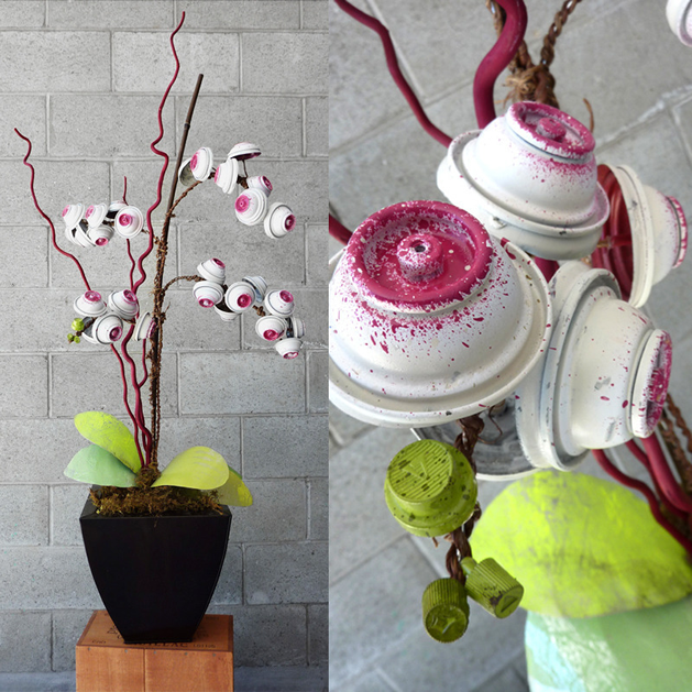 Floral Sculptures Made From Spray Paint Cans Make Make Craft