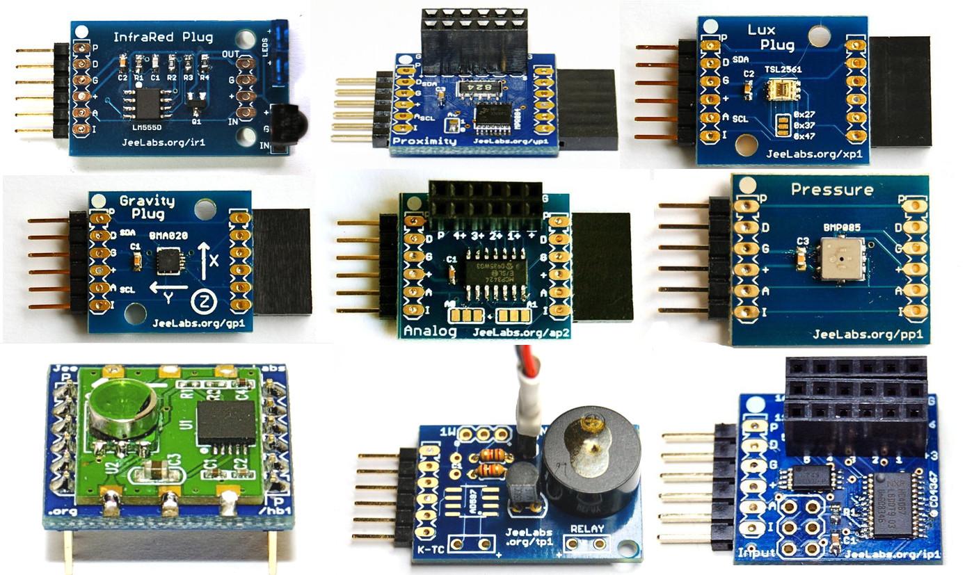 A collection of JeeLabs sensor plugs