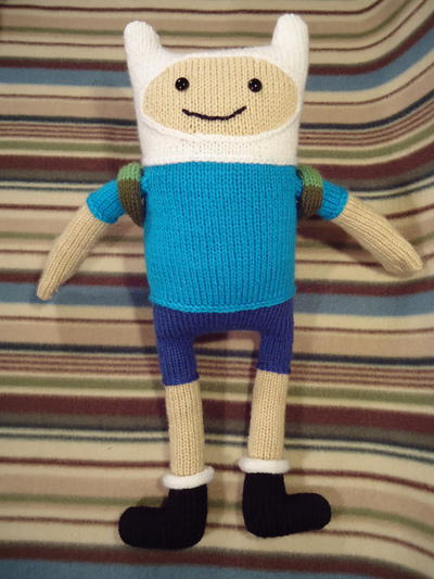 Adventure Time Knitting Patterns : Knitted Finn the Human Doll Make:
