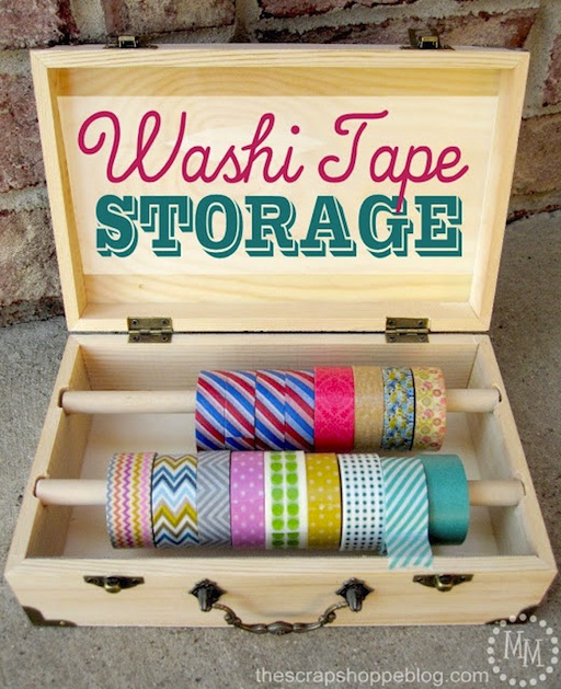 Washi Tape Ideas: How-To: Washi Tape Storage Box