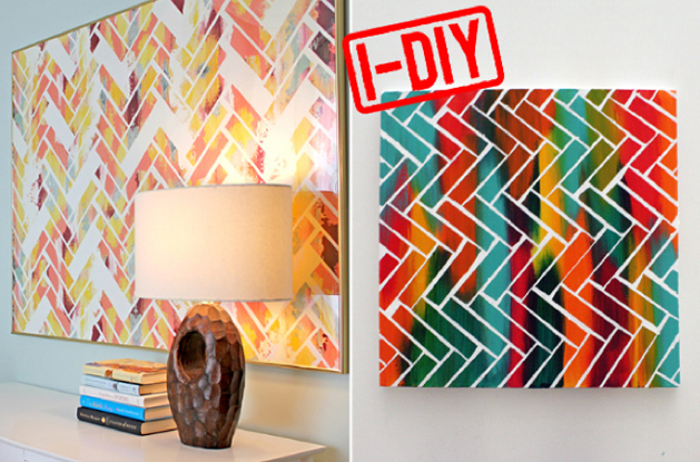 DIY Chevron Abstract Art - Make: | MAKE: Craft