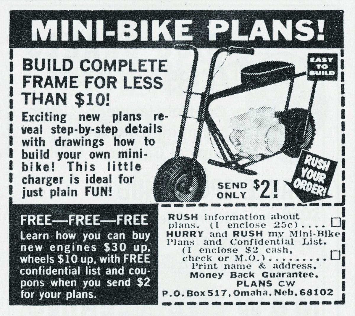 mini bike plans
