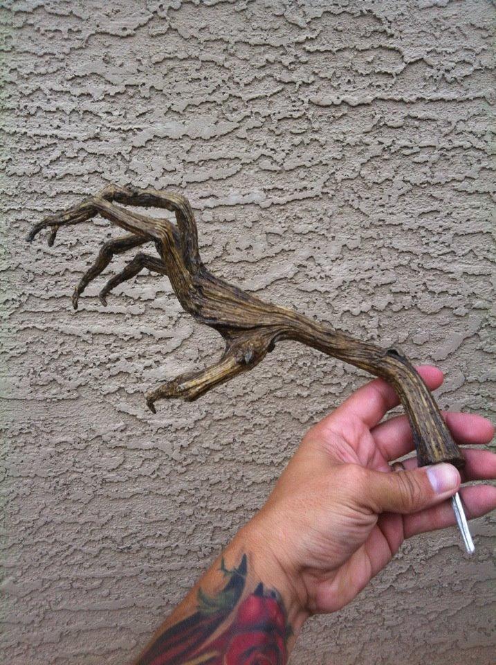 pumpkin stem hand