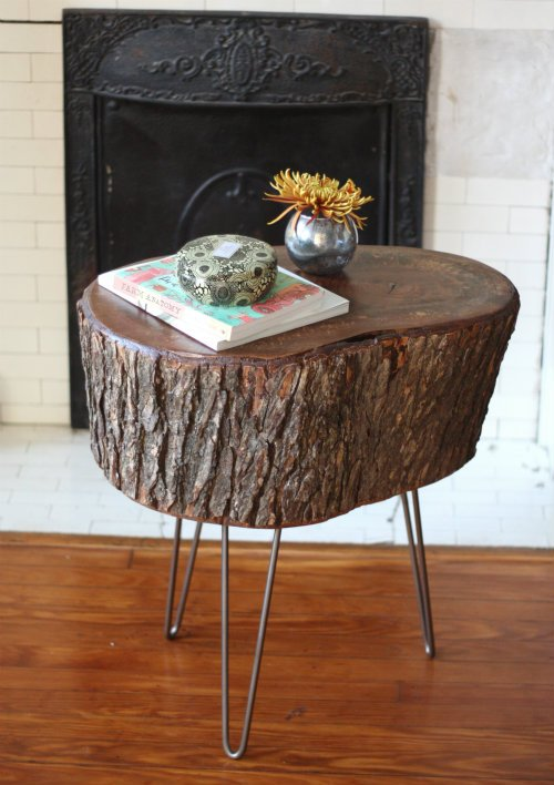 Tree Stump Table Make Diy Projects How Tos