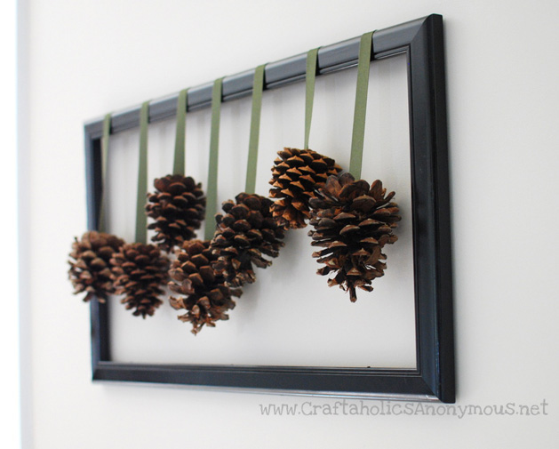 My son loves (loves!) collecting pine cones when we go on walks. We have a gorgeous collection, and theseDIY framed pine cones are a lovely way to show them off. How excited would he be if he got to collect every pine cone he saw for an assembly line of them?? This project couldn't be easier and looks great.