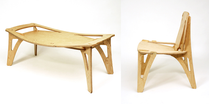 Andy Kem's Breakplane Furniture
