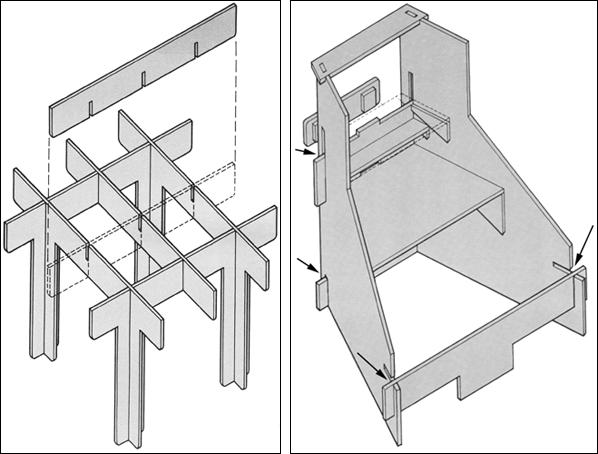 Basic (left) vs. oblique edge laps.