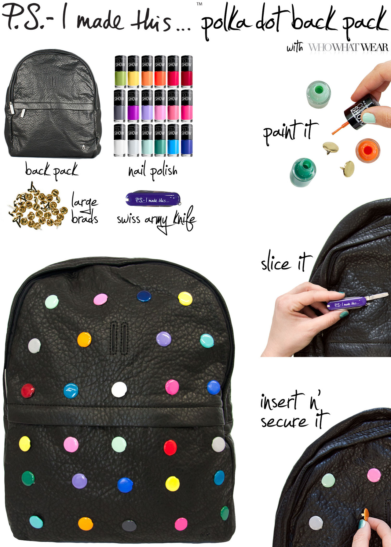 PS polka dot backpack