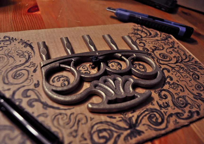 borgatti pipe organ brass knuckles