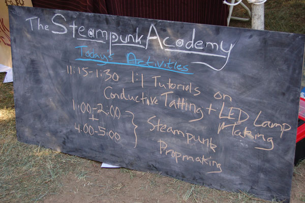 Steampunk Academy activities at the 2012 MFBA