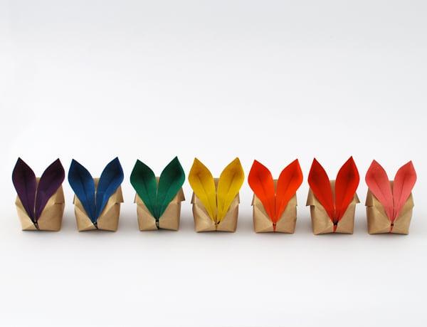 howto origami bunny decorations make