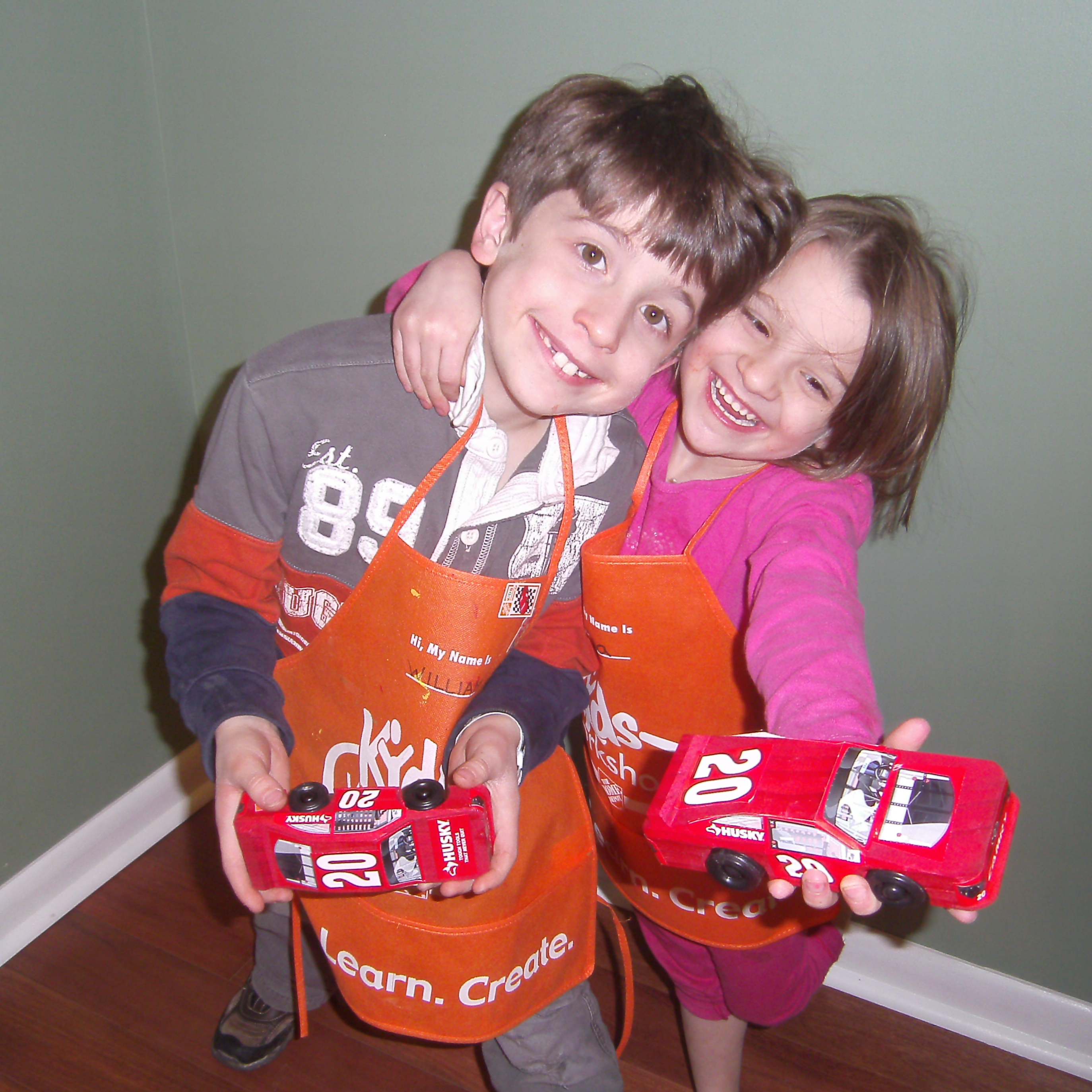 Race car project from a Home Depot workshop