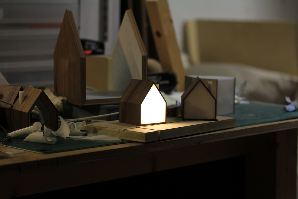 Good Night Lamps on the workbench
